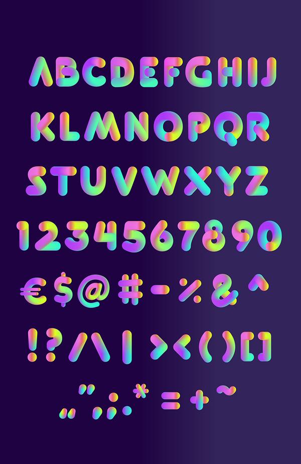 SOFTA Font Letters