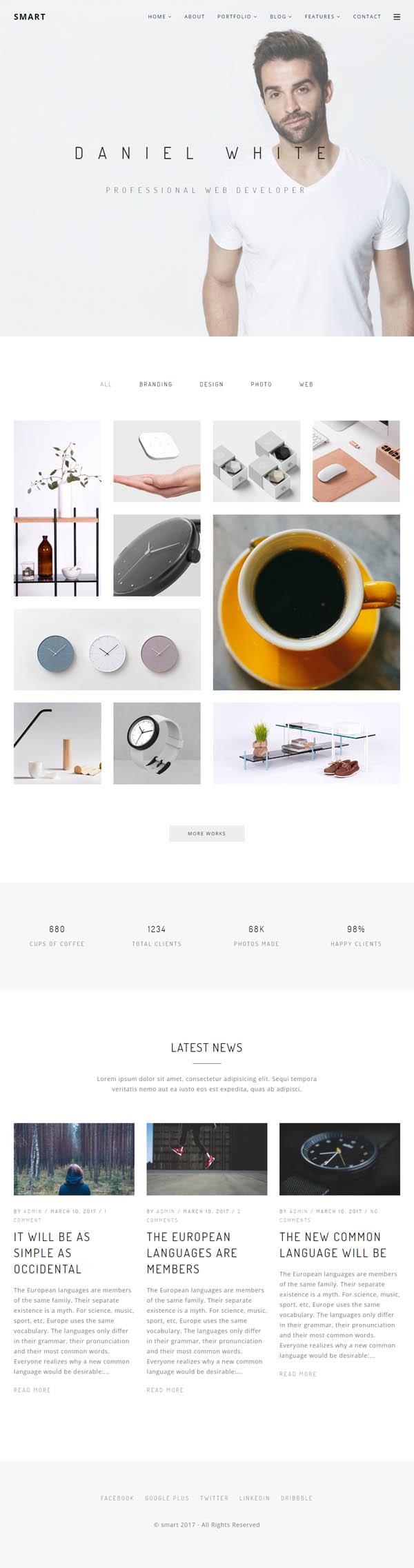 Smart – Minimal Portfolio WordPress Theme