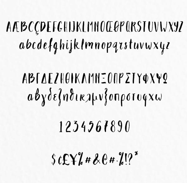Takhie Font Letters