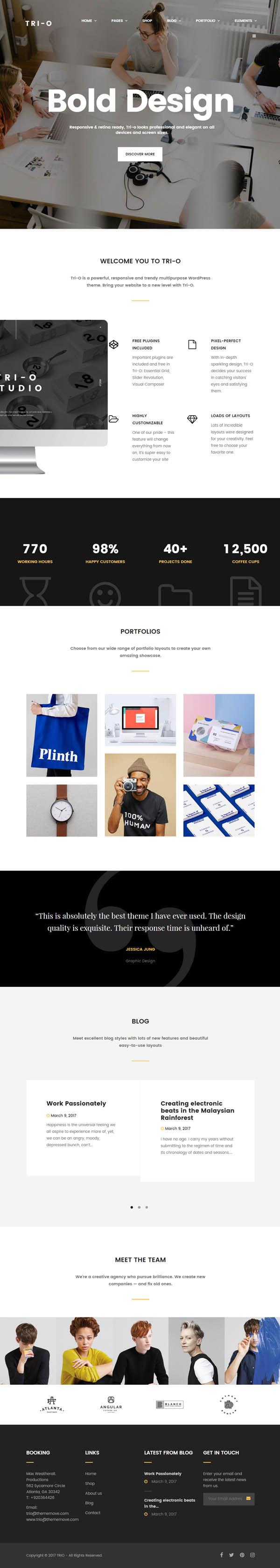 Tri-O – In Vogue Multipurpose WordPress Theme