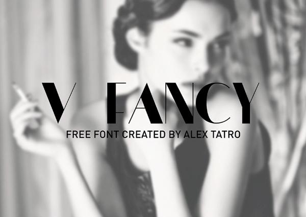 V FANCY Free Font