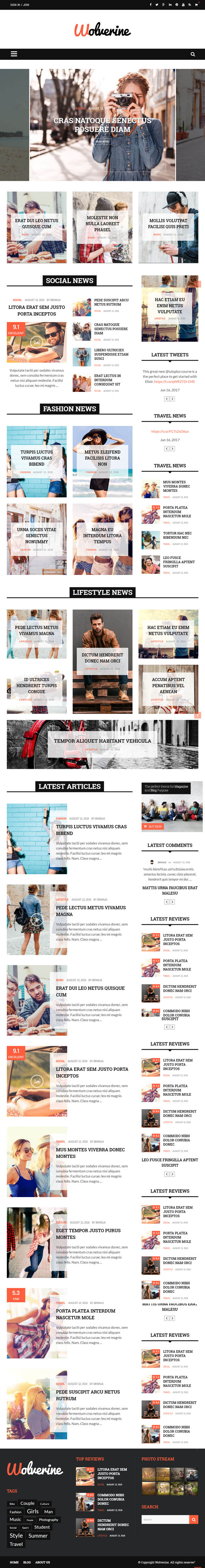 Wolverine - Responsive WordPress Magazine and Blog Theme