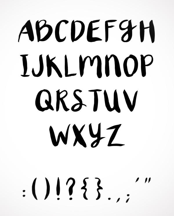 XO Brush Font Letters
