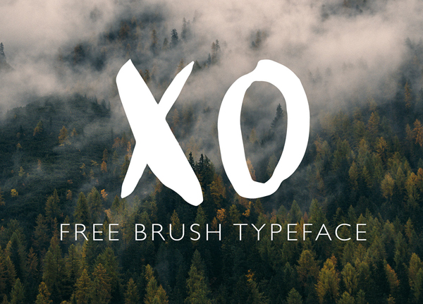 XO Brush Free Font