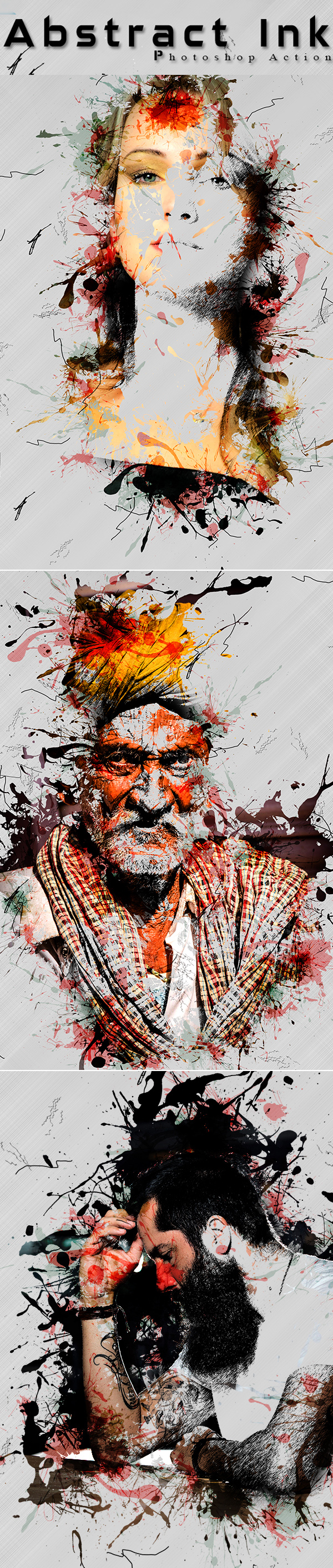 Abstract Ink Photoshop Action