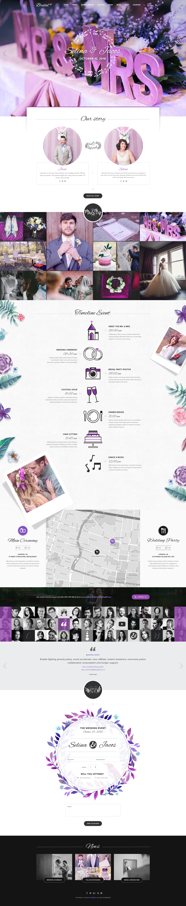 Bridal – Wedding WordPress Theme