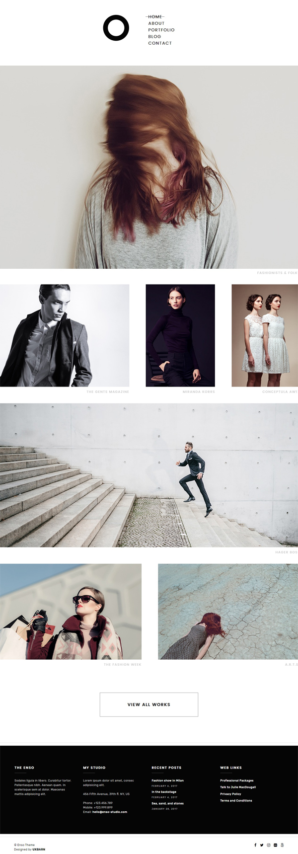 Enso – Minimal Photography and Portfolio WordPress Theme