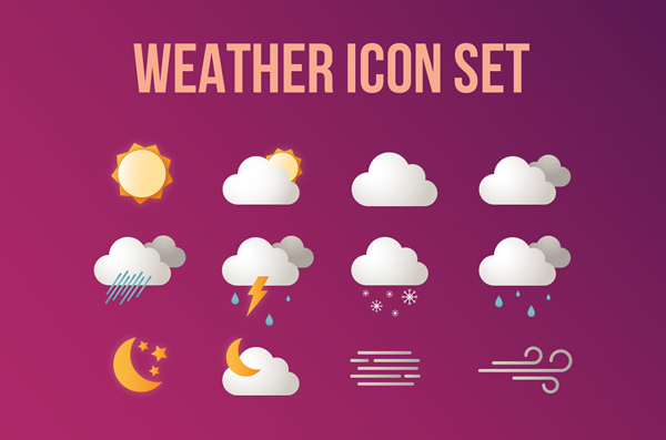 Free Weather Icon set (12 Icons)