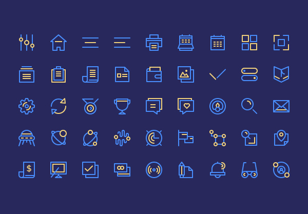 Free Birply Icons Set (45 Icons)