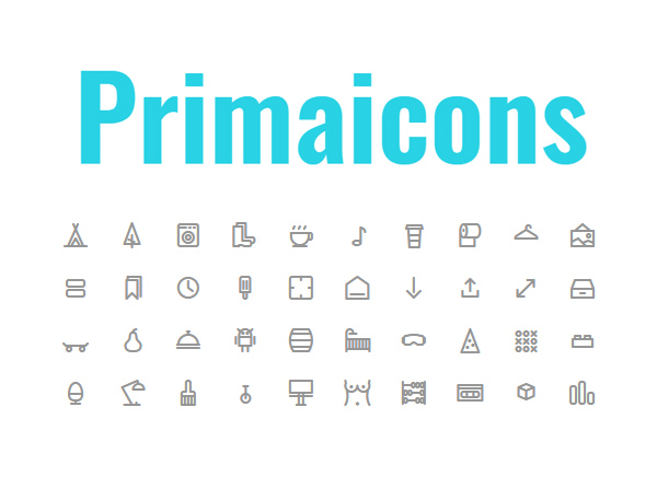 Free Pixel Perfect 24px Grid Outline Icon Web Font (40 Icons)