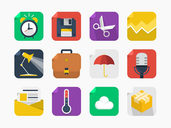 Free Square Icons Set (20 Icons)
