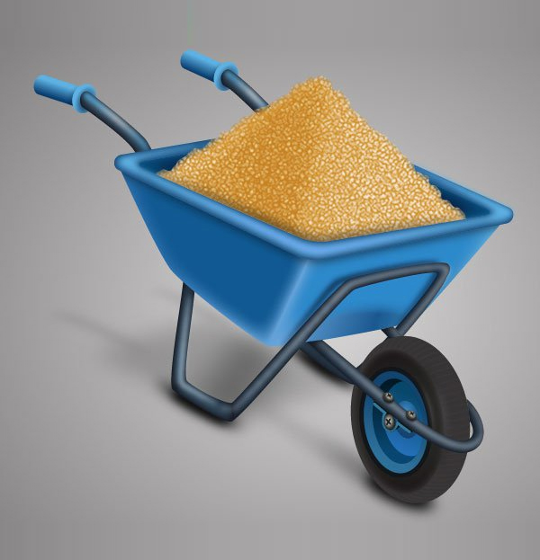 Learn how to create a Wheelbarrow full of Sand in Adobe Illustrator Tutorial