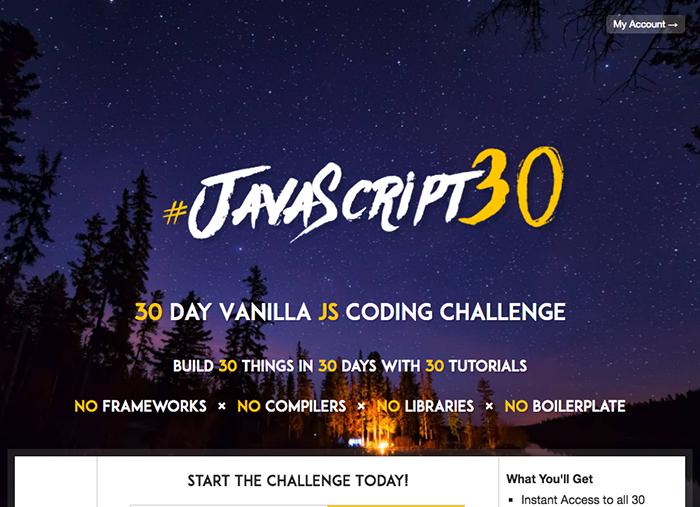 learn web development javascript 30