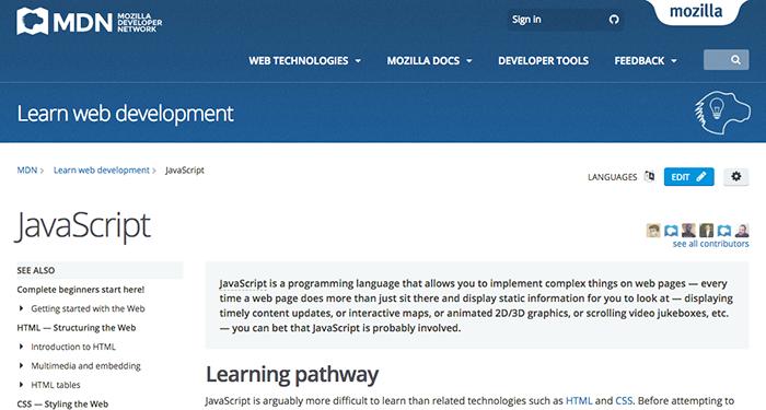 learn web development javascript mdn