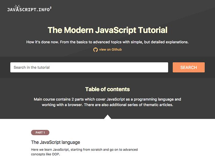 learn web development modern javascript tutorial