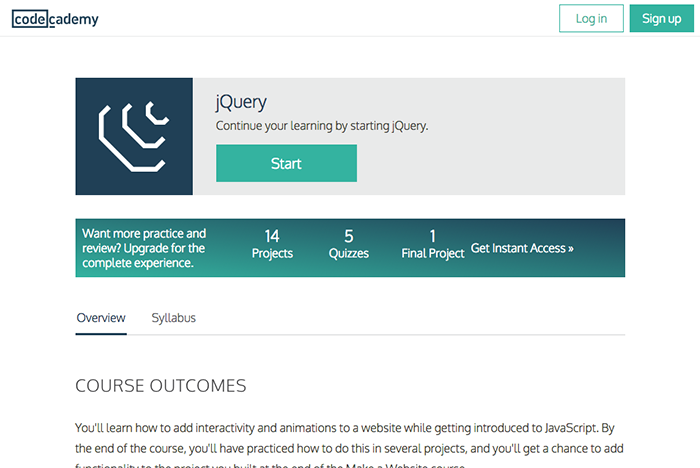 learn web development jquery codecademy