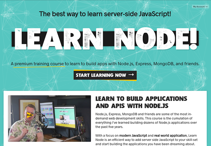 learn web development node js