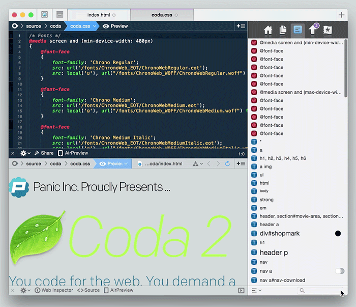 mac design apps coda