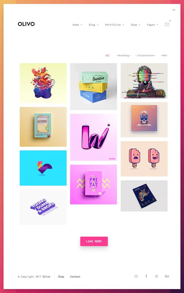 Olivo - Minimalist Portfolio, Photography & WooCommerce Theme