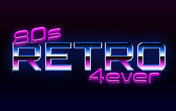 80s Retro Text Effect With Photoshop