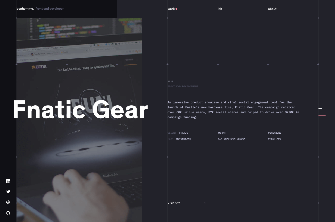 web designer portfolios bonhomme