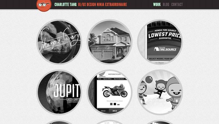 web designer portfolio site charlotte tang