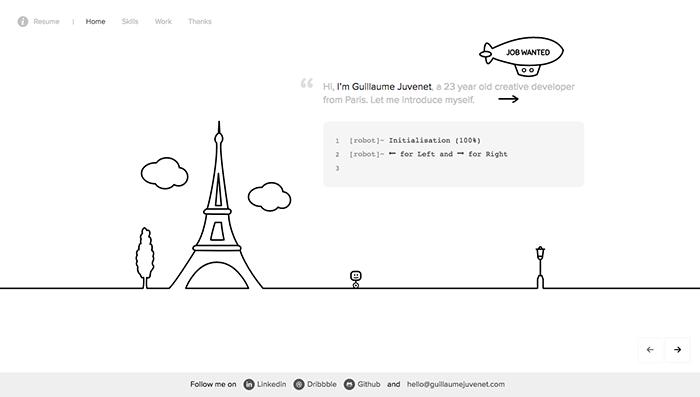 web designer portfolio juvenet