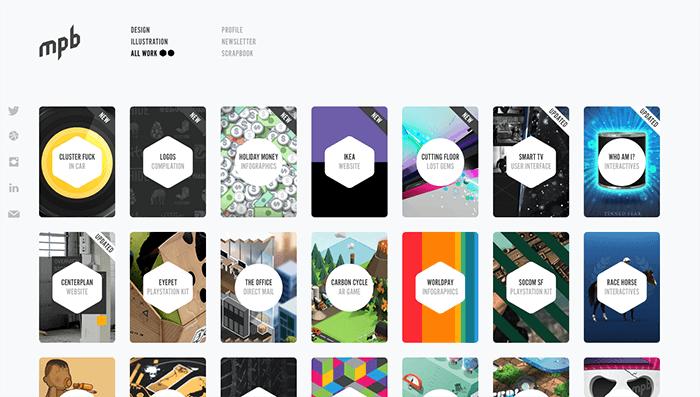 web designer portfolios mpb