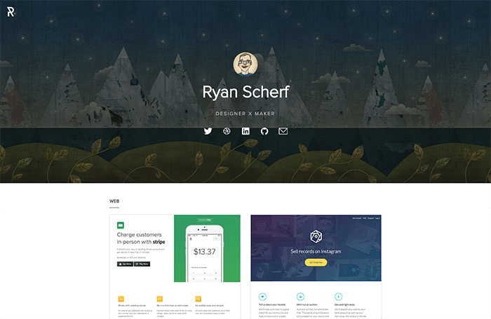web designer portfolio ryan scherf