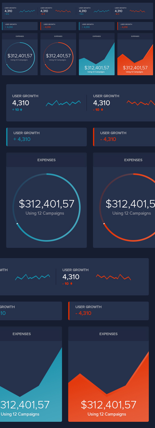 Free Dark Dashboard UI Design