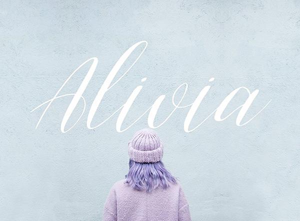 Alivia Script Free Font
