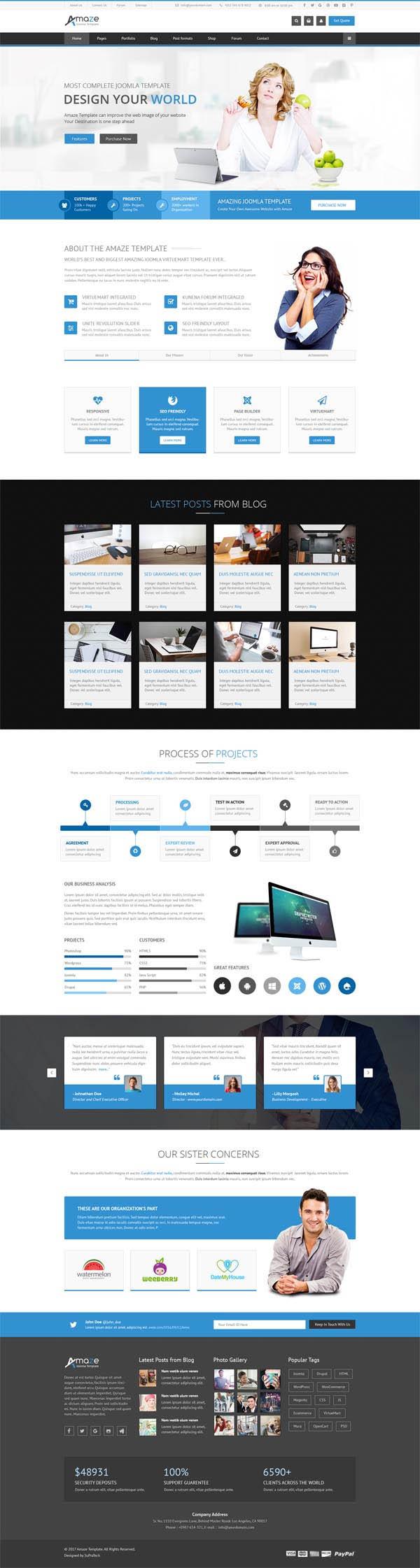Amaze : Corporate Responsive Multi-Purpose WordPress Theme