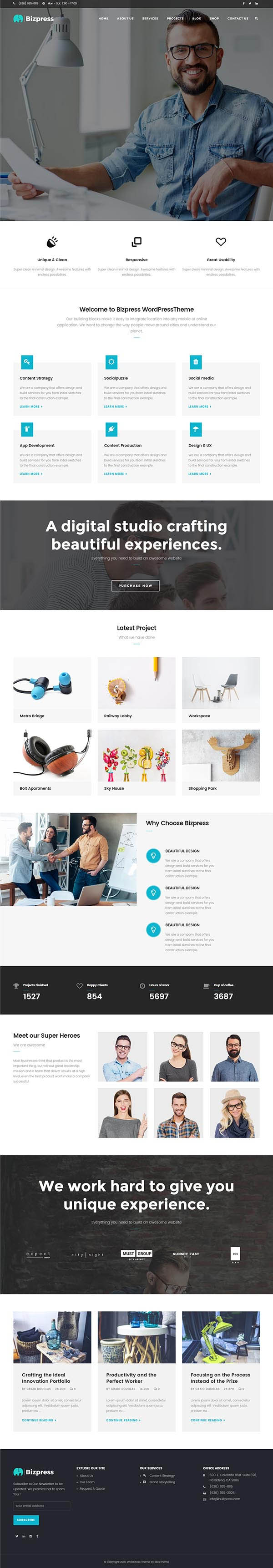 BizPress : Business & Corporate WordPress Theme