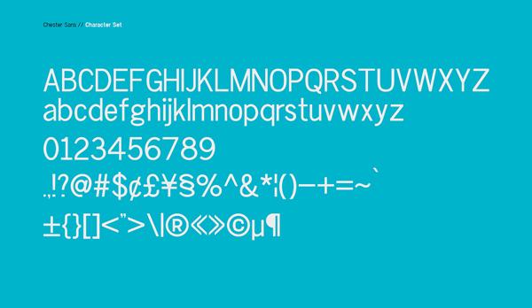 Chester Sans Light Free Font Letters