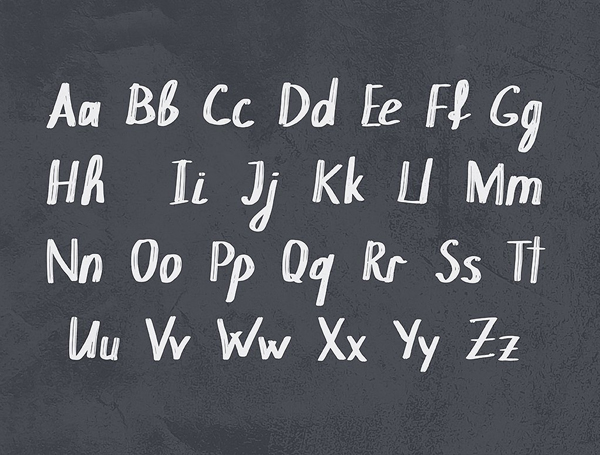 Chokle Handwritten Free Font Letters
