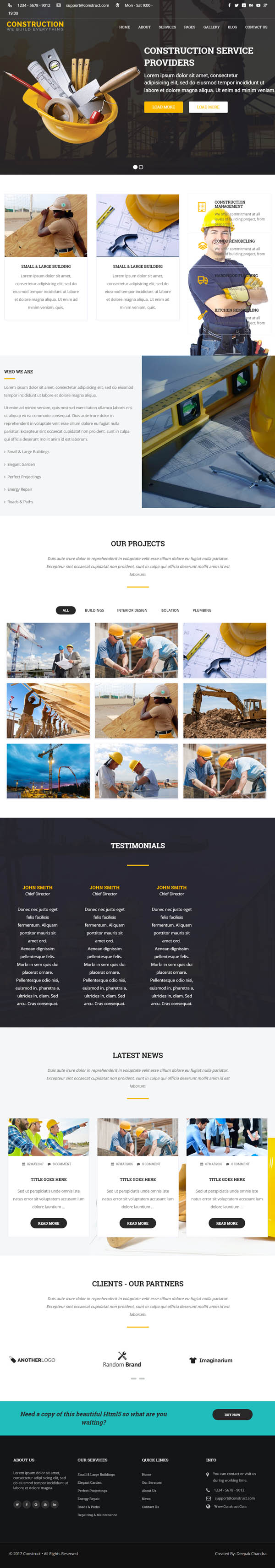 Construction - WordPress Theme for Construction Business