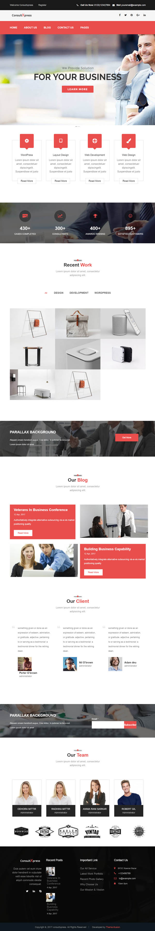 Consultxpress - Multipurpose Business WordPress Theme