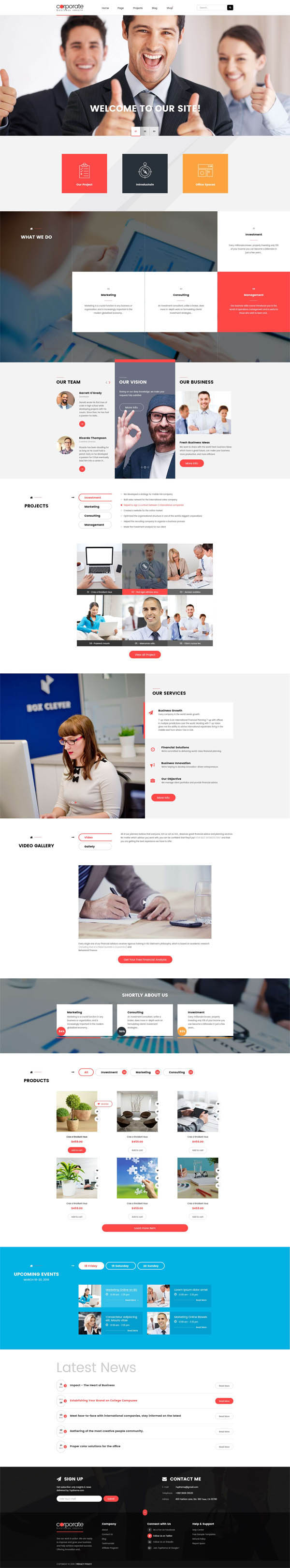 Corporate : Responsive WordPress Theme