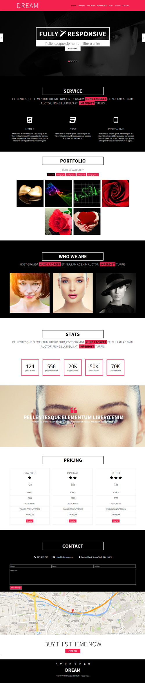 DREAM - One Page Responsive Template