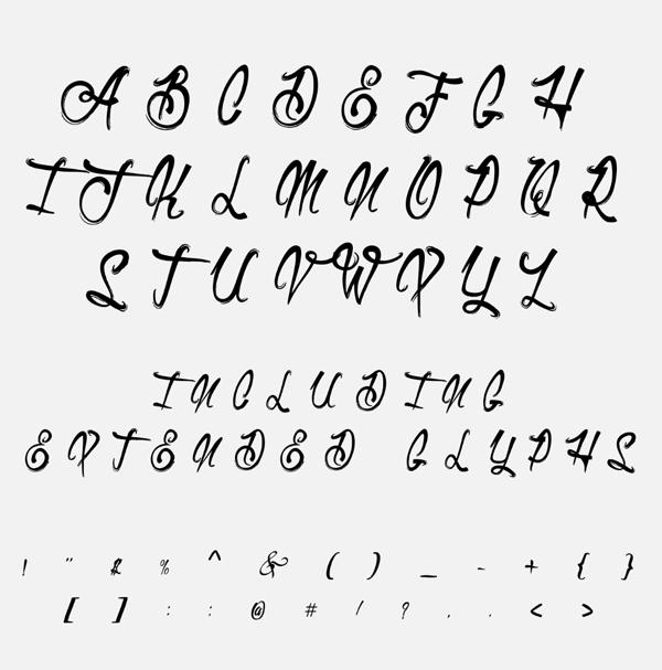 Duvetica Free Font Letters