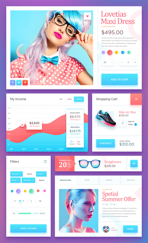 Ecommerce UI Kit - Free Download