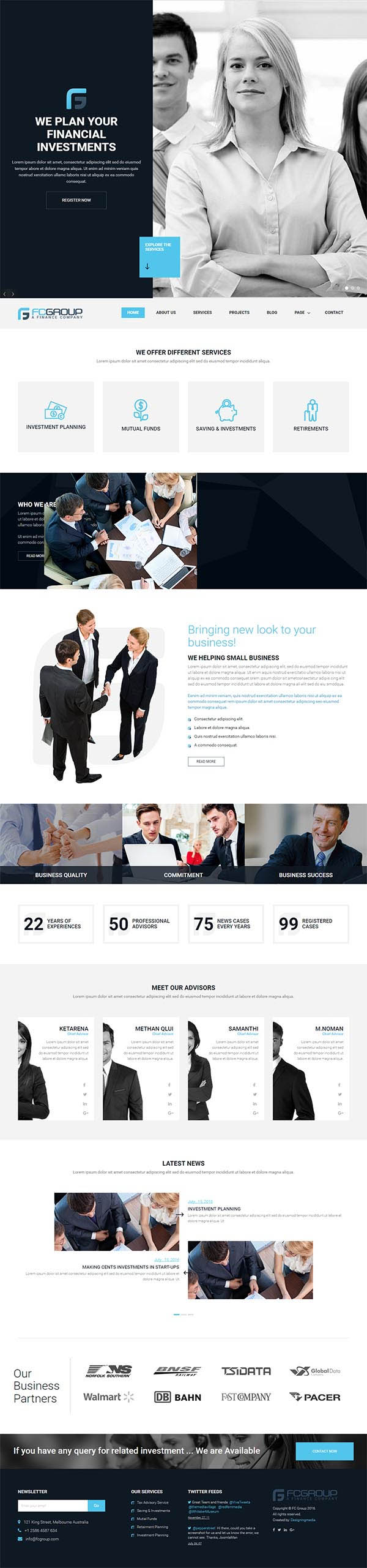 Finance Group : Corporate WordPress Theme