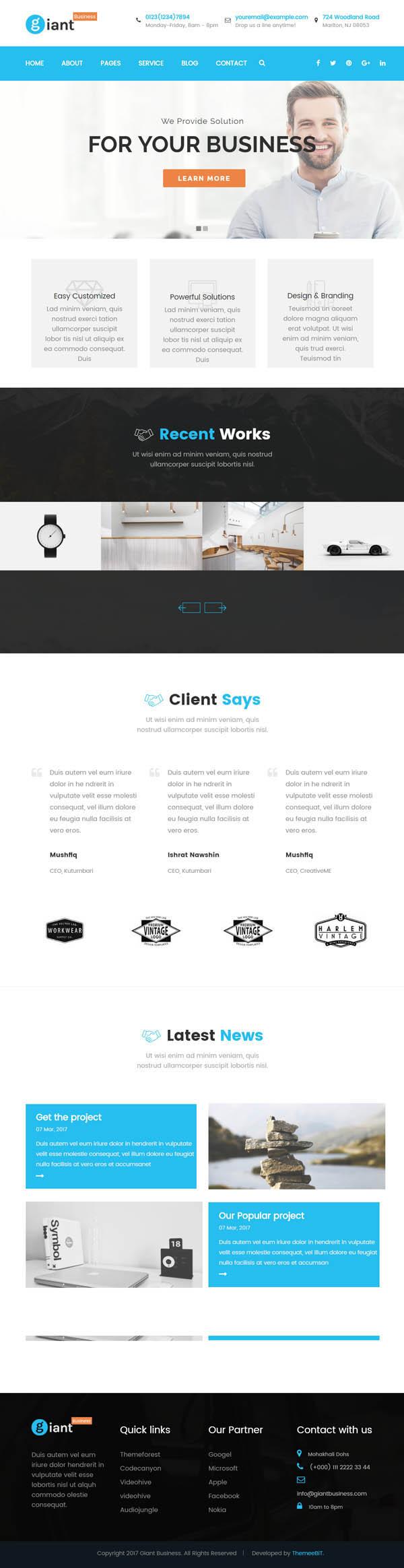 Giant Business : Multipurpose Agency & Corporate WordPress Theme