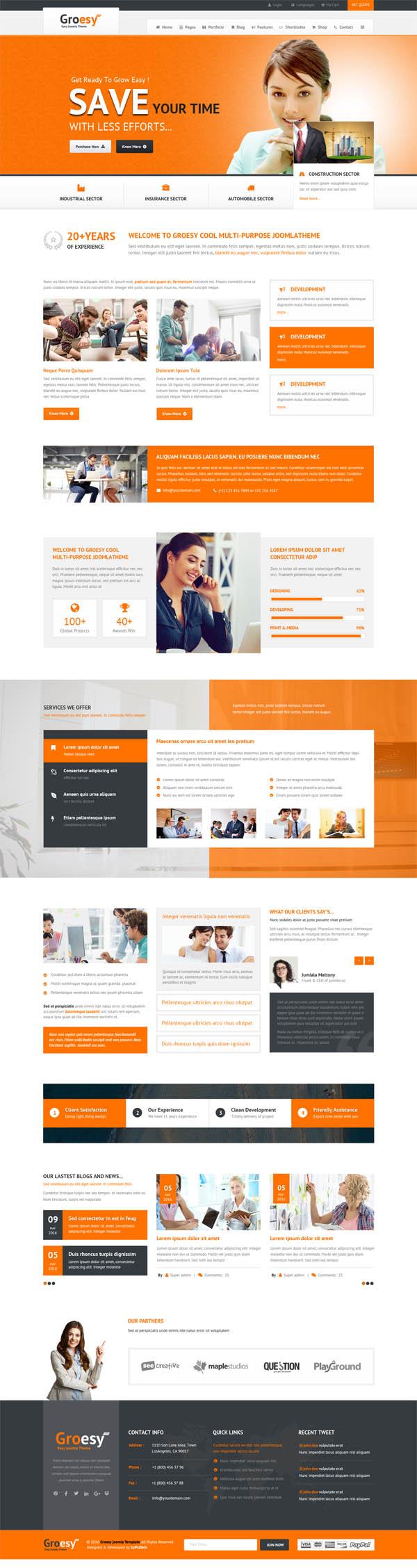 Groesy - Corporate Responsive Multi-Purpose WordPress Theme