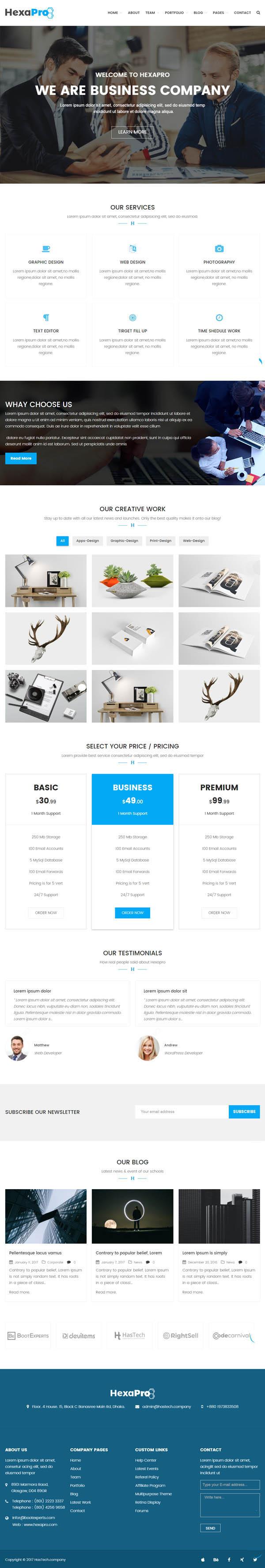 Hexapro : Corporate WordPress Theme