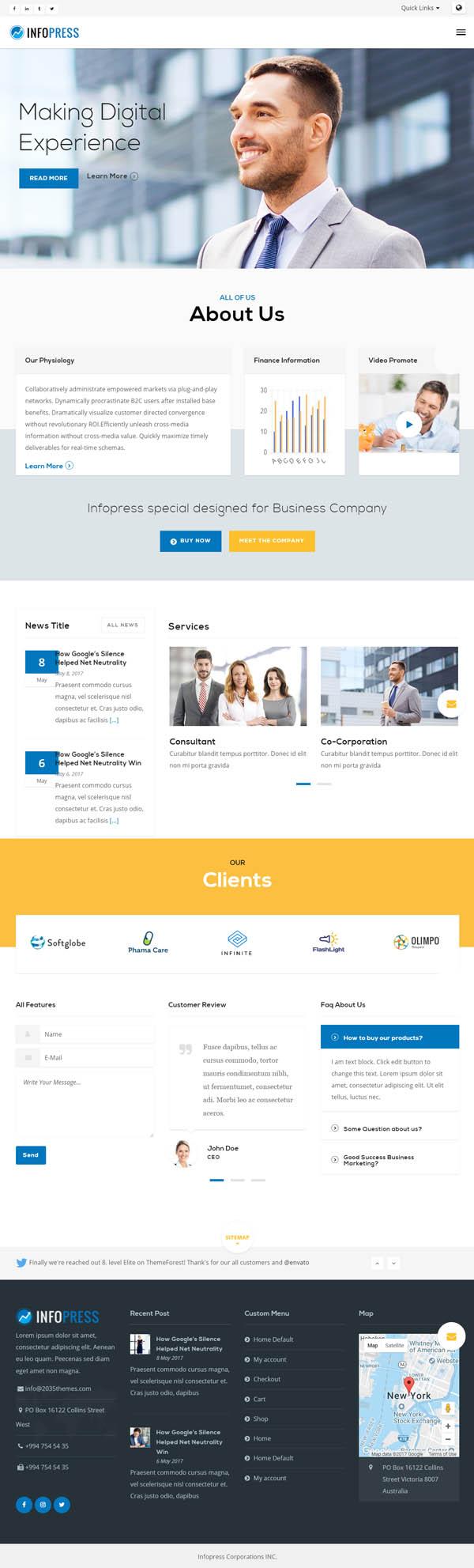 Infopress Multi-Purpose Business WordPress Theme