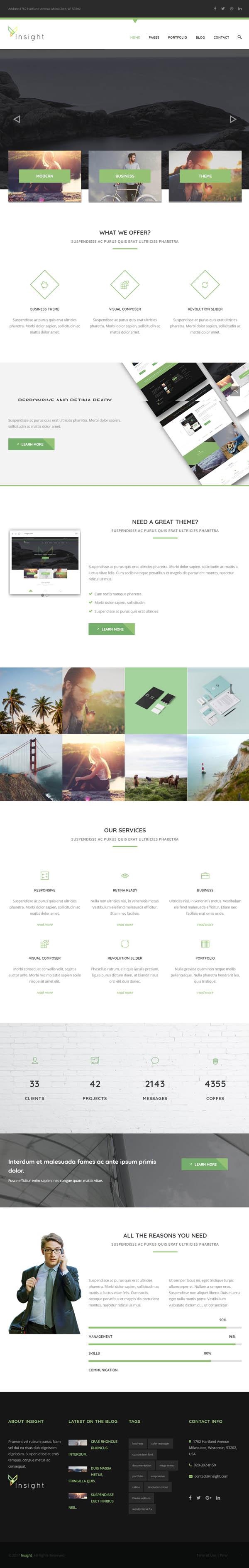 Insight - Premium Business WordPress Theme