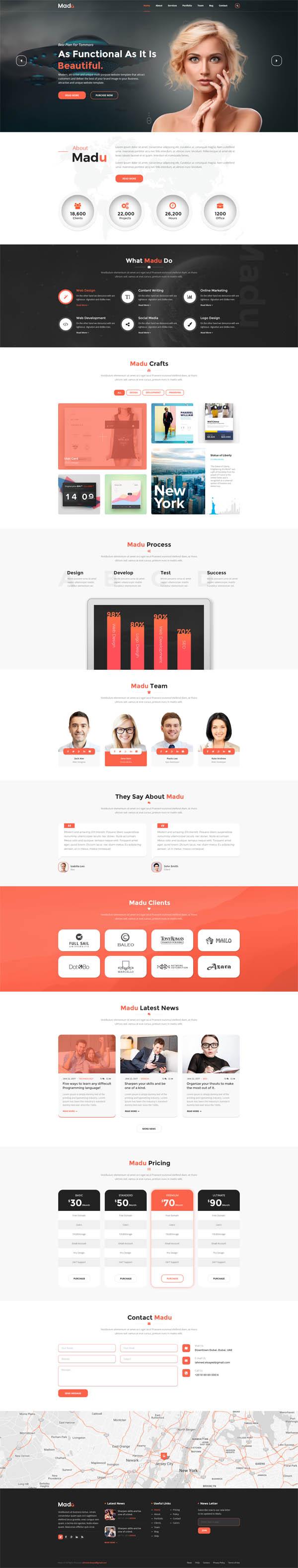 Madu | Creative Multi-Purpose PSD Template
