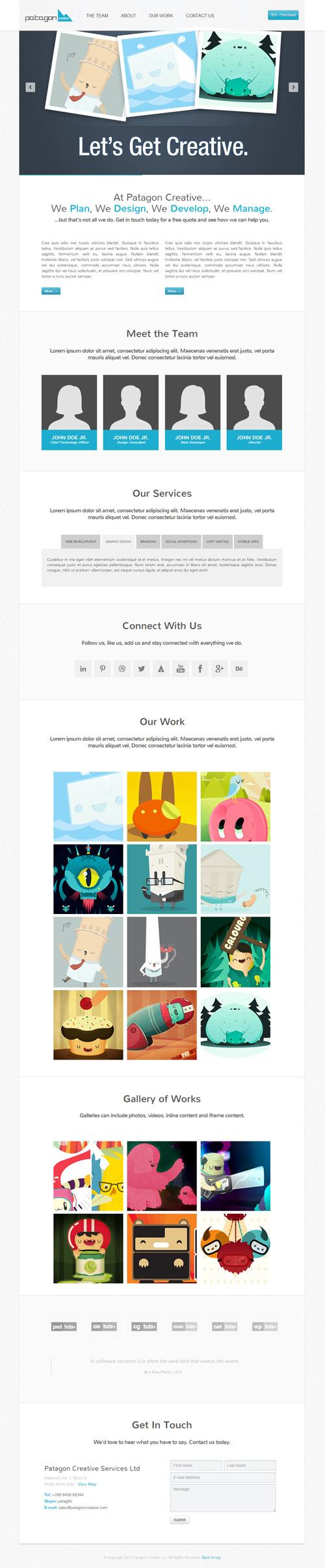 Patagon Creative - Single & Multi Page HTML5 Theme