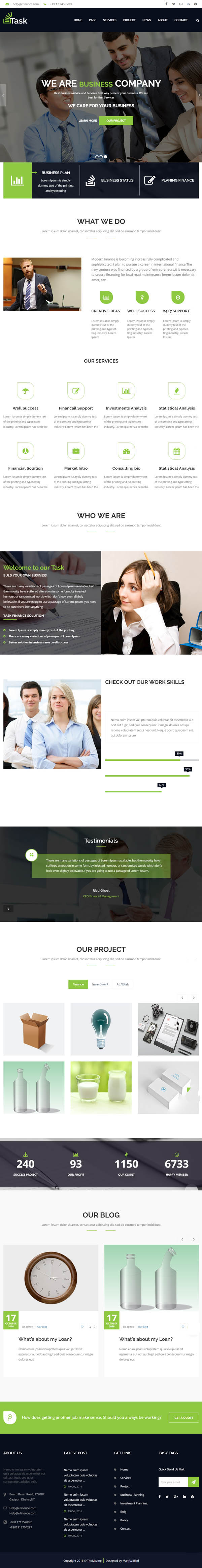 Task : Business & Corporate WordPress Theme!